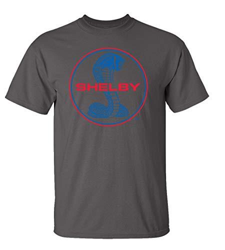 Ford Shelby Cobra Blue & Red Circle Logo Car T-Shirt Adult Men's Short - Logo T-shirt Cobra