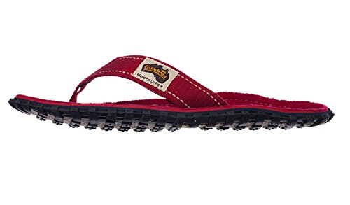 Gumbies Islander Unisex Canvas Flip Flops Manly Red Red