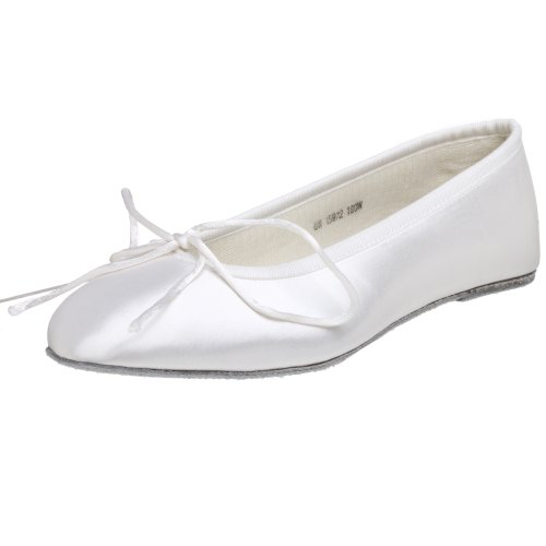 Touch Ups Women's Ballet Flat,White,11.0 W (Dyeable Shoes Size 11)