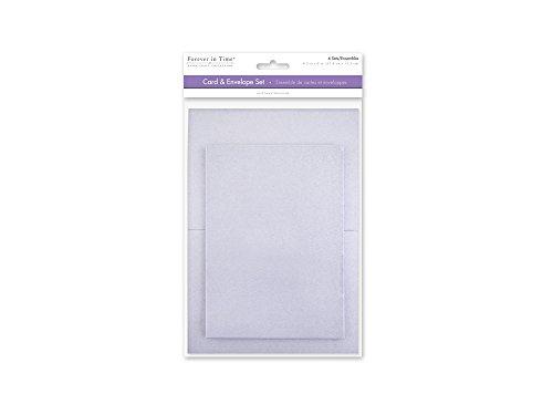 [해외]Forever in Time CM600H A6 Cards & Envelopes 6 Sets 4.5in x 6in Silver / Forever in Time CM600H A6 Cards & Envelopes, 6 Sets, 4.5in x 6in, Silver