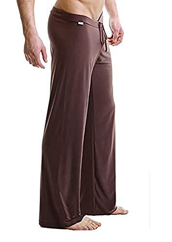 Trousers Pajama (xhorizon TM FL1 Men Man Flirty Lounge Loose-fitting Sport Yoga Pants Pyjama Trouser)