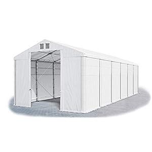 Das Company Tendone Deposito 8x12x4m Tendone Bianco Impermeabile 560g/m² Tenda da stoccaggio Rinforzo Gazebo Magazzino… 8 spesavip