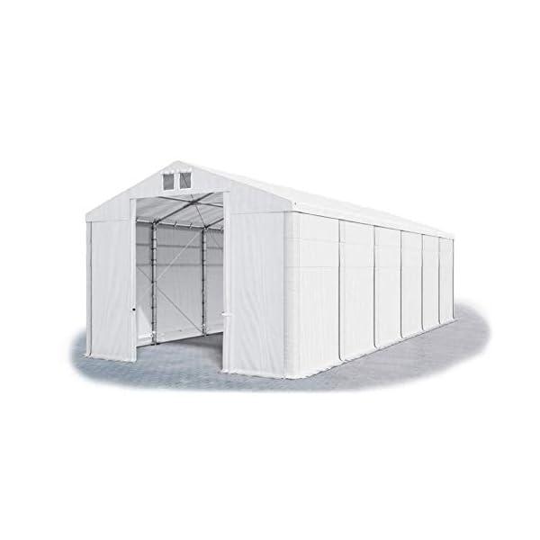 Das Company Tendone Deposito 8x12x4m Tendone Bianco Impermeabile 560g/m² Tenda da stoccaggio Rinforzo Gazebo Magazzino… 1 spesavip