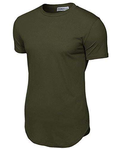 Simple Designed Soft Comfy Cotton Fabric Shirt Tops,009-light Olive,Medium