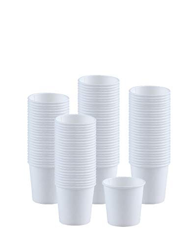 Price comparison product image Kindpack Disposable Paper Cups 4oz Cup, 100 Count, White Paper Hot Cups, Coffee Cup, Bathroom Cups, Single cup