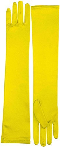 Yellow Gloves (Long Satin Dress Gloves (Yellow) Adult Accessory)