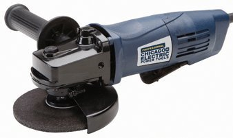 Chicago Electric Power Tools Professional 4-1/2 Angle Grinder with Paddle Switch