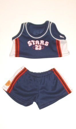 "Basketball Uniform Clothing Fits 8""-10"" Most Webkinz, Shining Star and 8""-10"" Make Your Own Stuffed Animals and Build-a-bear"