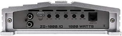 Hifonics ZG-1800.1D 1800 Watts Zeus Gamma Mono Subwoofer Car Audio Amplifier with Gravity Magnet Phone Holder