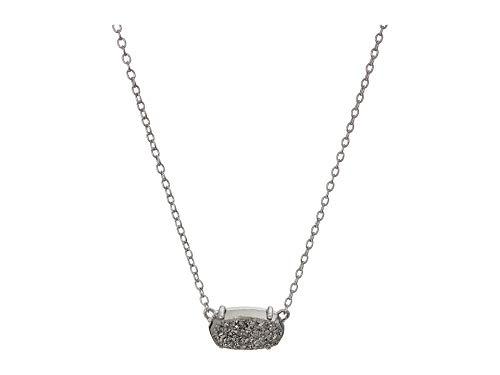 (Kendra Scott Ever Silver Pendant Necklace in Platinum Drusy)