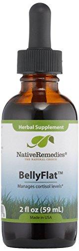 3 bouteilles de remèdes indigènes BellyflatTM Herbal Supplément pour les niveaux de cortisol équilibrés dans le corps, ce qui peut aider à soutenir un poids santé, 2 Fl Oz ineach Bouteille