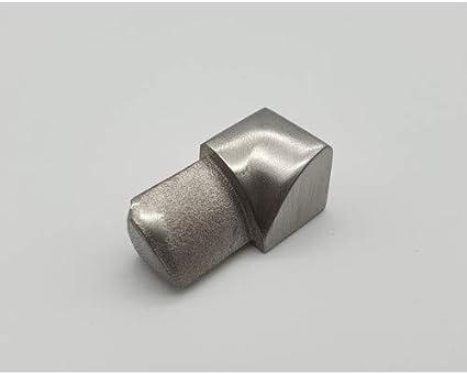 Au/ßenecke Rundprofil 10 mm geb/ürstet f/ür Edelstahlschienen Rotthues Fliesenschiene Viertelkreisprofil