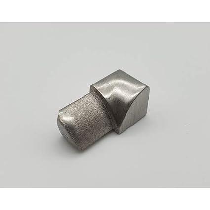 spazzolato in acciaio INOX Rotthues Profilo tondo per piastrelle 10 mm x 2,50 m