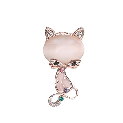 Botrong Women Rhinestone Brooch Pin Pearl Brooches Scarves Clip Shawl Buckle (C) (Sapphire Crystals Brooch Flower)