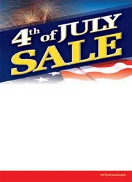 (T50JFT 4th of July Sale Patriotic- Slotted Sale Tags - 5