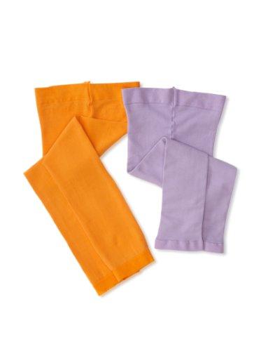 Country Kids Little Girls'  Pima 2 Pack Capri, Orange/Lavender, 6-8