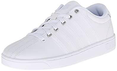 K-Swiss Women's Court Pro II CMF Athletic Shoe, White/Silver, 5 M US