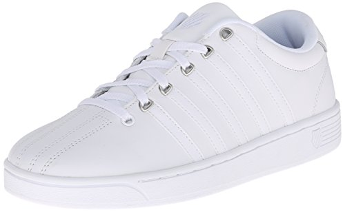 K-Swiss Women's Court Pro II CMF Athletic Shoe, White/Silver, 5.5 M US