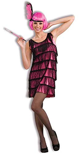 Woman's Jazzy Flapper Costume, Pink/Black,
