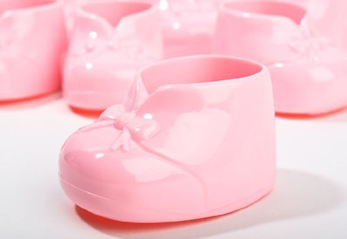 24 PINK Baby Shower Booties Shoes Favor Treats Decoration Cake