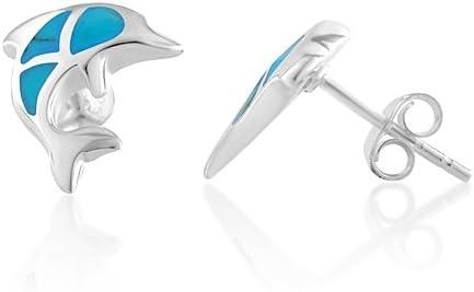 Silver Triangle Earrings Sterling Silver Earrings Triangle Stud Earrings Earrings for Women Geometric Earrings Dolphin Earrings