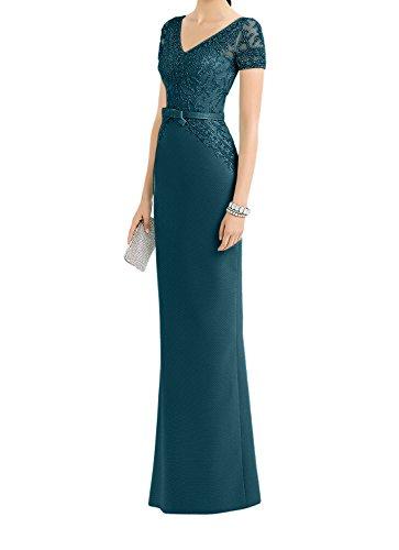 Blau Brautmutterkleider Lang Dunkel Kleider La Standsamt Ballkleider Abendkleider Spitze Etuikleider Braut mia Kurzarm 6CqwxCHaZ