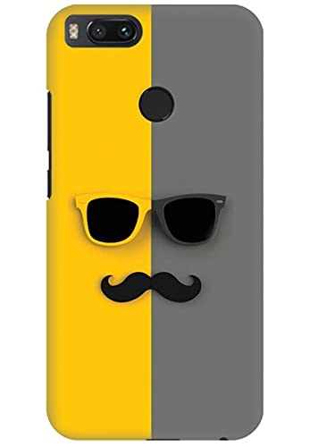 Amez Back Cover for Xiaomi Mi A1 Sunglasses and Moustache Mobile Phone Back Covers Cases