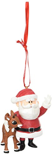 h and Santa Hanging Ornament ()