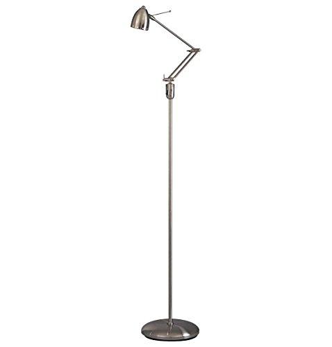 - George Kovacs P255-084, Georges Reading Room Swing Arm Floor Lamp, Halogen, Brushed Nickel