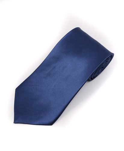 Soild Silk Mens Plain Multi Color Tie, French Blue by boxed-gifts (Image #1)