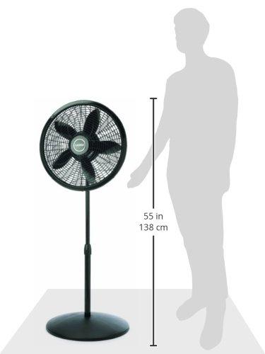 Lasko 1827 Adjustable Elegance and Performance Pedestal Fan, 18-Inch, Black