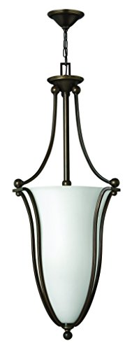 Bolla Pendant Lighting - Hinkley 4665OB-OPAL Transitional Six Light Inverted Pendant from Bolla collection in Bronze/Darkfinish,