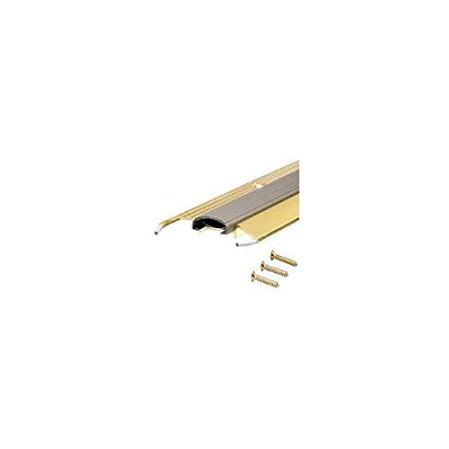 M-D 09043 36'' Bright Gold Low Boy Thresholds With Vinyl Seal Aluminum