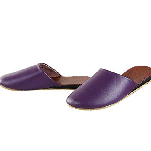 Femme Women pour Chaussons Purple TELLW qgaOa