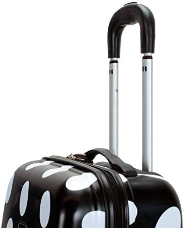 Rockland Laguna Beach Hardside Spinner Wheel Luggage, Black Dot, Carry-On 22-Inch