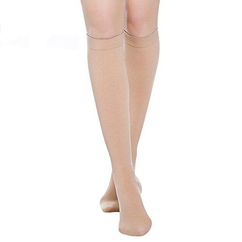 LTHA Compression Socks 20-30 mmHg (1 Pair) for Women & Men Best Medical, Nursing, for Running, Athletic, Edema, Varicose Veins, Pregnancy & Maternity - Below Knee High Stockings.