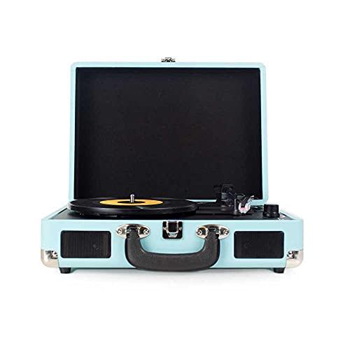 PRIXTON – Vintage Vinyl Turntable, Vinyl Player en Music Player via Bluetooth en USB, 2 Ingebouwde Luidsprekers…