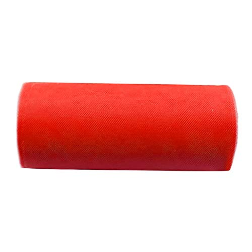 Wensltd 9 Colors Rainbow Tulle Rolls Decorative Tulle for DIY Crafts Costumes,Wedding and Decoration,Table Skirt, Rainbow Party Tulle Skirt (Red)