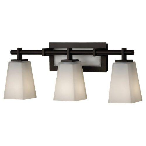 Clayton 1 Light (Feiss VS16603-ORB Clayton 3 Light Vanity Fixture, Oil Rubbed Bronze)