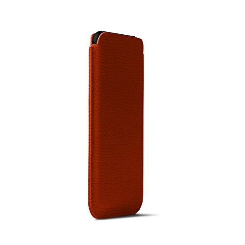 Lucrin - Classic Case for iPhone X - Orange - Granulated Leather by Lucrin (Image #4)