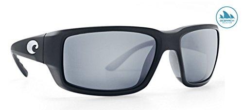 Costa Del Mar TF11OCOSGP Fantail Sunglass, Matte Black Ocearch Gray Sil - Matte Fantail Gray Costa