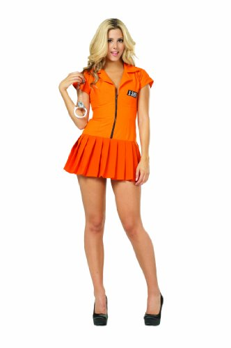 RG Costumes Plus-Size Flirty Felon, Orange, XX-Large (Convict Lady Plus Size Costume)