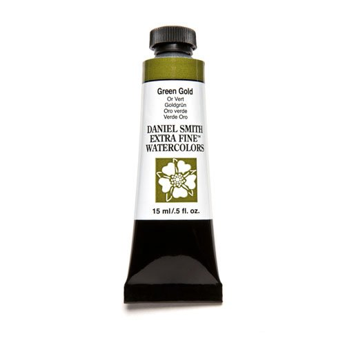 Daniel Smith Extra Fine Watercolor 15ml Paint Tube, Green - Gold Green