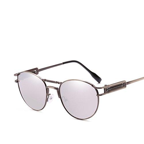 Silver Doble Gafas Black Retro De Deslumbramiento Sol De De Viaje De De Marco Hombres Conducción Personalizado Gafas Haz Metal De w8fHqxC