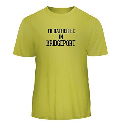 (I'd Rather Be in Bridgeport - Nice Men's Short Sleeve T-Shirt, Yellow,)