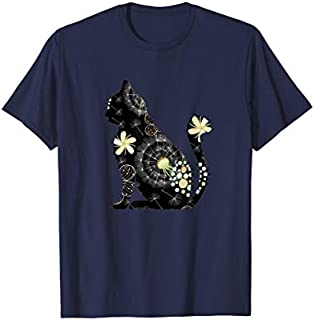 Funny Cat , Cat lover , Floral Cat tee T-shirt | Size S - 5XL