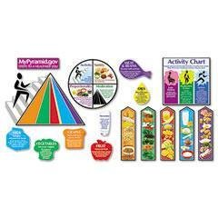 TEPT8173 - Usda's MyPyramid - Trendâ MyPyramid.Gov-Steps to a Healthier You Bulletin Board Set - Kit of 1 - Mypyramid Gov Steps