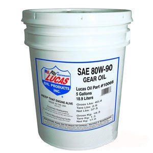 Lucas 80W-90 Heavy Duty Gear Oil 5 gallon Part No: A-10066 by AI Products