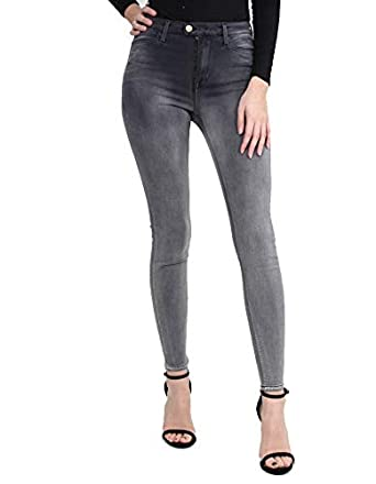 a4e6f69bbb Replay Touch High Rise Skinny Grey 28/30: Amazon.co.uk: Clothing