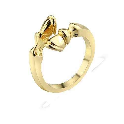 Eleusine Fashion Vintage Horseshoe Resizable Ring for Men Women Horse Hoof Animal Ring Jewelry Ancient Bronze
